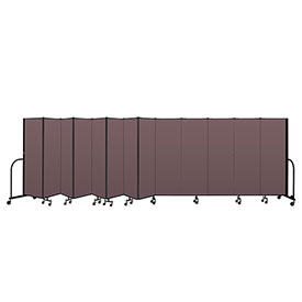 "Screenflex Portable Room Divider 13 Panel, 6'H x 24'1""L, Fabric Color: Mauve"