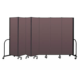 "Screenflex Portable Room Divider 7 Panel, 6'8""H x 13'1""L, Fabric Color: Mauve"