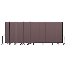 "Screenflex Portable Room Divider 13 Panel, 7'4""H x 24'1""L, Fabric Color: Mauve"