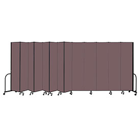 "Screenflex Portable Room Divider 13 Panel, 8'H x 24'1""L, Fabric Color: Mauve"