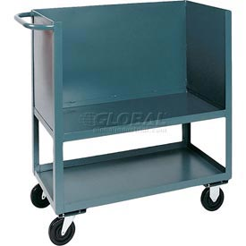 Jamco Elevated Deck Box Truck BC248 3 Enclosed Solid Steel Sides 48x24