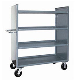 Jamco Package Truck DD242 with 4 Shelves 42x24 1200 Lb. Capacity