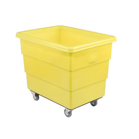 Dandux Yellow Plastic Box Truck 51126016Y-3S 16 Bushel Medium Duty