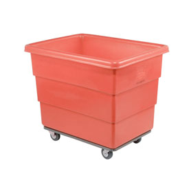 Dandux Red Plastic Box Truck 51116010R-3S 10 Bushel Heavy Duty