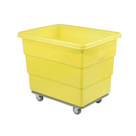 Dandux Yellow Plastic Box Truck 51116010Y-3S 10 Bushel Heavy Duty