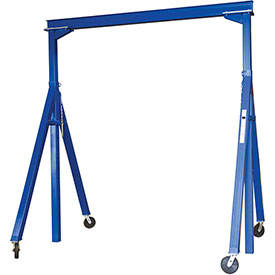 Vestil Steel Gantry Crane AHS-6-10-14 Adjustable Height 6000 Lb. Capacity