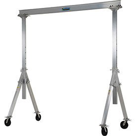 Vestil Aluminum Gantry Crane AHA-4-8-10 Adjustable Height - 4,000 lb. Capacity