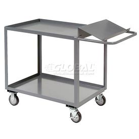 Jamco Two Shelf Order Picking Cart SO136 36x18 Flush Top Shelf
