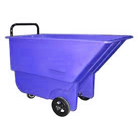 Bayhead Products Blue Light Duty 1/3 Cubic Yard Tilt Truck 275 Lb. Capacity by
