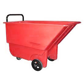 Bayhead Products Red Light Duty 1/3 Cubic Yard Tilt Truck 275 Lb. Capacity by