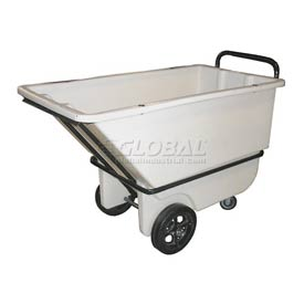 Bayhead Products White Heavy Duty 1/3 Cubic Yard Tilt Truck 1200 Lb. Capacity