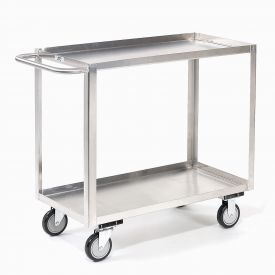 Jamco Stainless Steel Stock Cart XB130 2 Shelves Tray Top Shelf 30x18