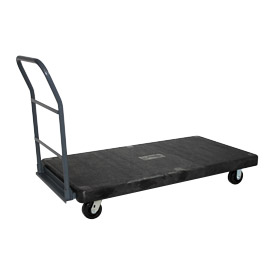 Jamco Structural Foam 48 x 24 Plastic Deck Platform Truck with 4 Wheels NF248 2000 Lb. Capacity