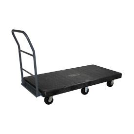 Jamco Structural Foam 48 x 24 Plastic Deck Platform Truck with 6 Wheels NL248 2500 Lb. Capacity