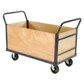 Euro Truck with 4 Wood Sides & Deck 48 x 24 2000 Lb. Capacity