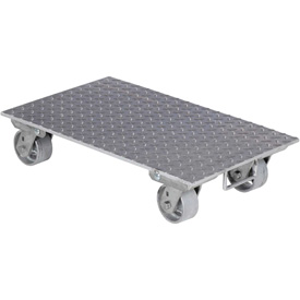 "Vestil Aluminum Dolly PDA-1627-C-S-H 27""L x 16""W with Solid Deck & Steel Wheels"