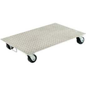 "Vestil Aluminum Dolly PDA-2436-C-S-H 36""L x 24""W with Solid Deck & Steel Wheels"