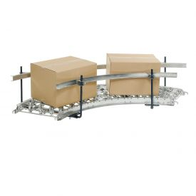 Steel Guard Rail Kit (Pair) for Omni Metalcraft 90 Degree Curved Skate Wheel Conveyor