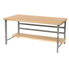 "Stationary 60"" X 30"" Shop Top Square Edge Workbench - Gray"
