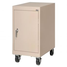 Sandusky Mobile Work Height Storage Cabinet TA11182430 Single Door - 18x24x36, Sand