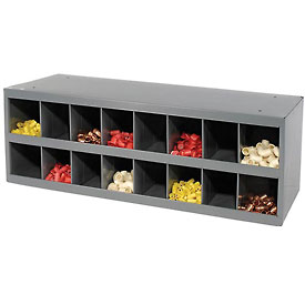 Durham Steel Storage Parts Bin Cabinet 353-95 Open Front - 16 Compartments