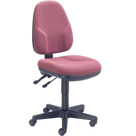 Multifunction Office Chair - Fabric - Burgundy