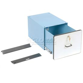 "12""H Lockable Stacking Drawer- Blue"