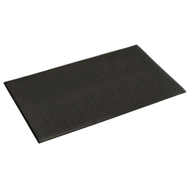 Ribbed Surface Mat 2 Foot Wide 60 Foot 3/8 Thick Roll Black