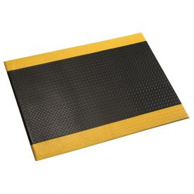 Diamond Plate 1/2 Inch Thick Mat 24x36 Black/Yellow Border