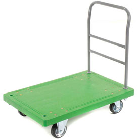 Best Value Plastic Deck Platform Truck 36 x 24 1000 Lb. Capacity