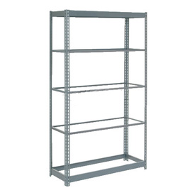 "Heavy Duty Shelving 48""W x 12""D x 84""H With 5 Shelves, No Deck"