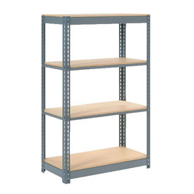 "Heavy Duty Shelving 48""W x 18""D x 60""H With 4 Shelves, Wood Deck"