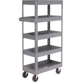 Edsal ST8003 Multi-Level Steel Shelf Truck with 5 Shelves