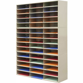 45 Opening Horizontal Literature Rack - Tan