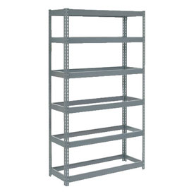 """Extra Heavy Duty Shelving 48""""W x 12""""D x 60""""H With 6 Shelves, No Deck"""