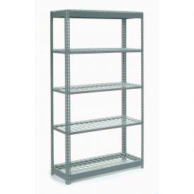 "Heavy Duty Shelving 48""W x 12""D x 60""H With 5 Shelves, Wire Deck"