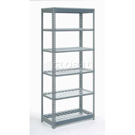 "Heavy Duty Shelving 36""W x 18""D x 60""H With 6 Shelves, Wire Deck"