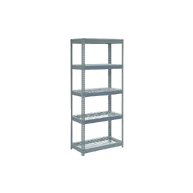 "Extra Heavy Duty Shelving 36""W x 24""D x 60""H With 5 Shelves, Wire Deck"