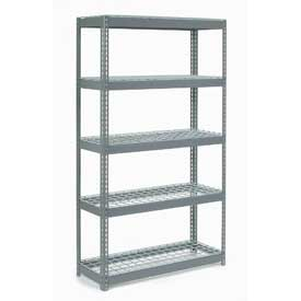 """Extra Heavy Duty Shelving 48""""W x 12""""D x 60""""H With 5 Shelves, Wire Deck"""