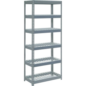 "Extra Heavy Duty Shelving 36""W x 18""D x 60""H With 6 Shelves, Wire Deck"