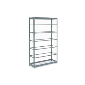 "Heavy Duty Shelving 48""W x 12""D x 84""H With 7 Shelves, No Deck"