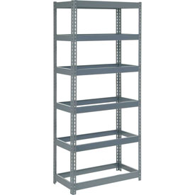 "Extra Heavy Duty Shelving 36""W x 12""D x 84""H With 6 Shelves, No Deck"