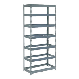 "Extra Heavy Duty Shelving 36""W x 12""D x 84""H With 7 Shelves, No Deck"