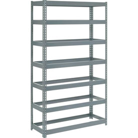 "Extra Heavy Duty Shelving 48""W x 18""D x 84""H With 7 Shelves, No Deck"
