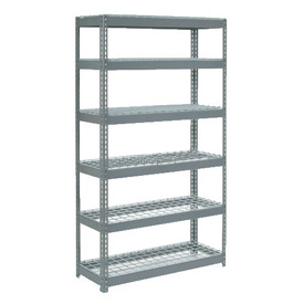 "Extra Heavy Duty Shelving 48""W x 12""D x 84""H With 6 Shelves, Wire Deck"
