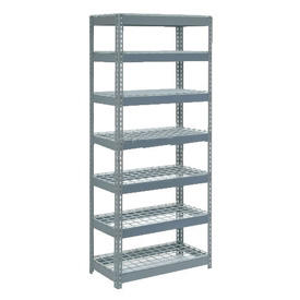 "Extra Heavy Duty Shelving 36""W x 12""D x 84""H With 7 Shelves, Wire Deck"