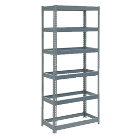 """Extra Heavy Duty Shelving 36""""W x 12""""D x 96""""H With 6 Shelves, No Deck"""