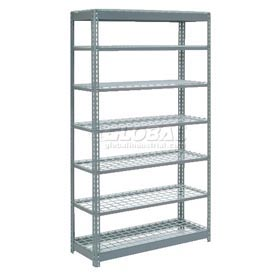 "Heavy Duty Shelving 48""W x 18""D x 96""H With 7 Shelves, Wire Deck"
