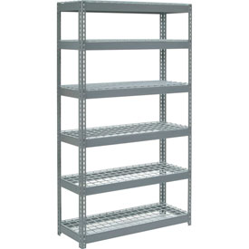 """Extra Heavy Duty Shelving 48""""W x 18""""D x 96""""H With 6 Shelves, Wire Deck"""