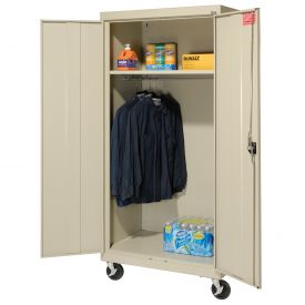 Sandusky Mobile Wardrobe Cabinet TAWR462472 - 46x24x78, Putty